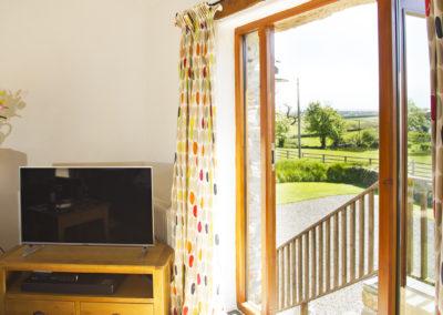 Far reaching views of Cornish countryside.