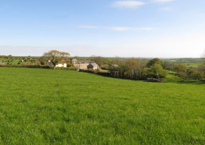 View of barn from Cows meadow