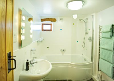 The family bathroom is conveniently located next to bedroom 2.